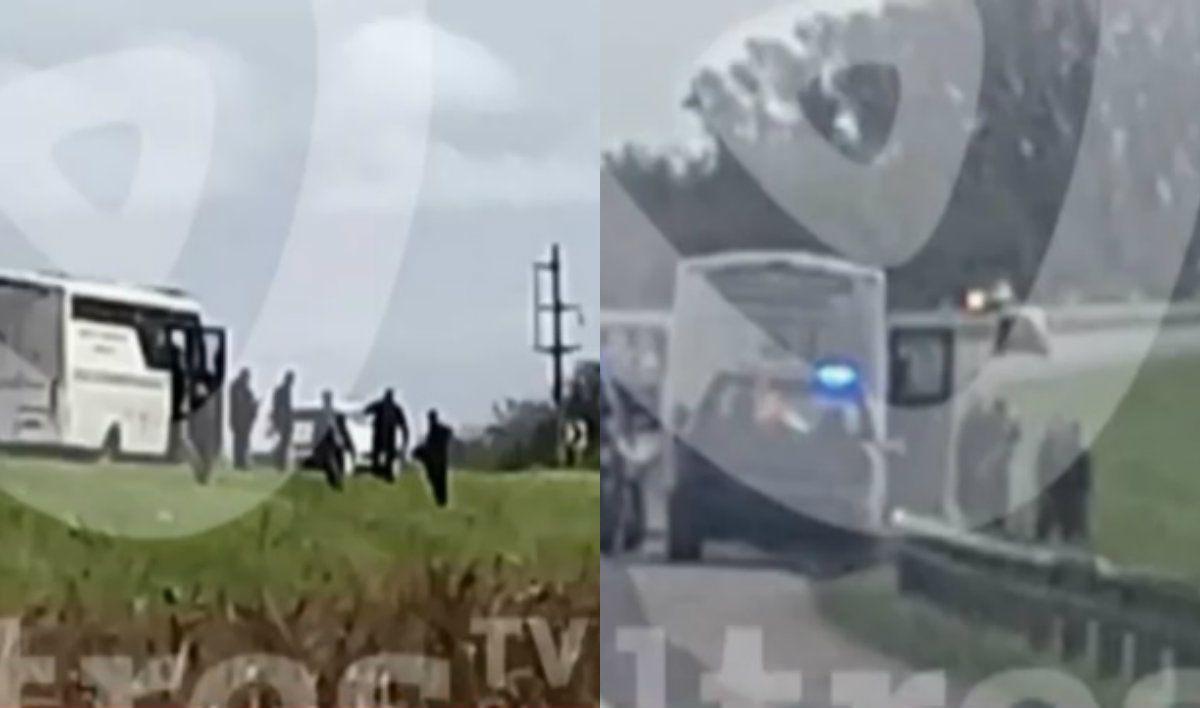 Confuso episodio con un micro del Servicio Penitenciario: se fugaron 13 presos