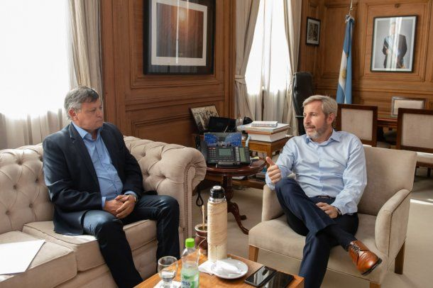 Rogelio Frigerio recibió al gobernador Domingo Peppo<br>