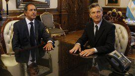 Daniel Scioli con Mauricio Macri en 2016.