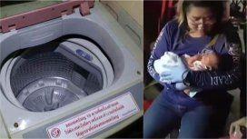 Abandonaron a un bebé adentro de un lavarropas