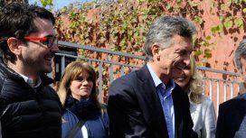 Facundo Garretón con Mauricio Macri