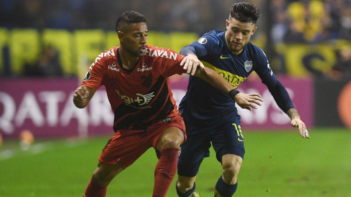 Boca le ganó a Paranaense, quedó primero y puede enfrentar a River