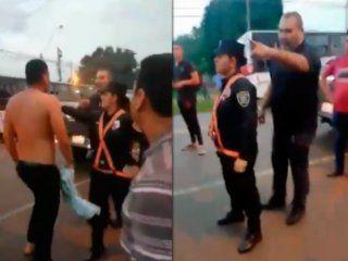 chilavert se peleo en plena ruta con un colectivero: golpes, insultos y una policia agredida