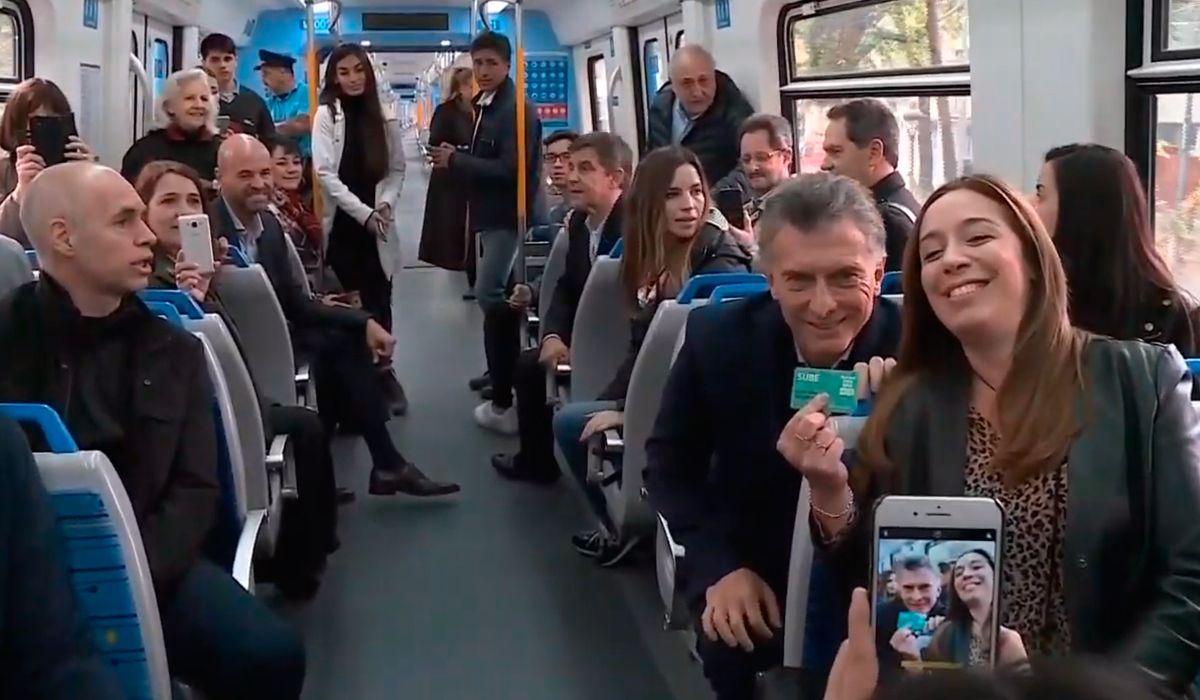 Macri encabezó la inauguración del viaducto Mitre y les habló a los argentinos: Es por acá
