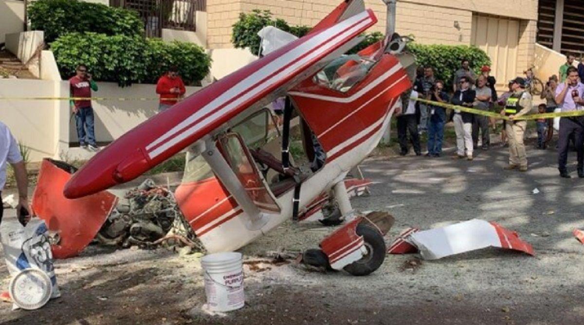 Así quedó la avioneta (foto: La Teja)