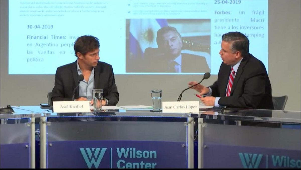 Axel Kicillof estuvo en el Wilson Center de Washington