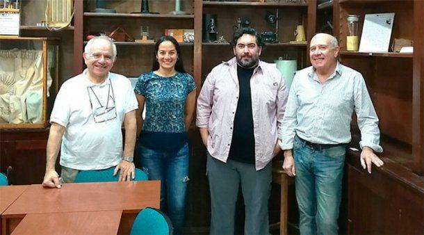 <div>De izquierda a derecha: Alberto Capparelli, Nasly Delgado, Damián Marino y Agustín Navarro. Gentileza Agencia CyTA</div>