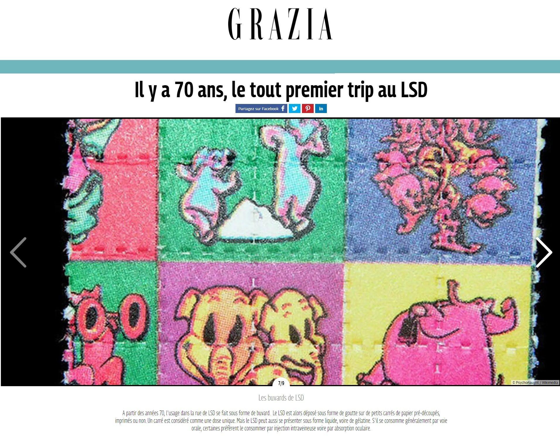 La revista Grazia de Francia la utilizó en 2013