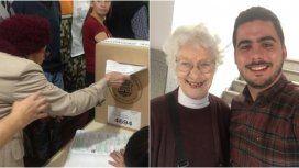 Dos mujeres de más de 100 años fueron a votar en Córdoba y sus imágenes se viralizaron