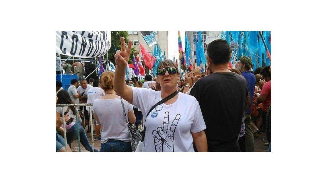 Alejandra milita en el peronismo y participa de todos los actos que puede