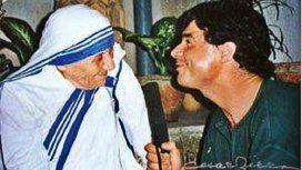 Claudio María Dómínguez con la Madre Teresa