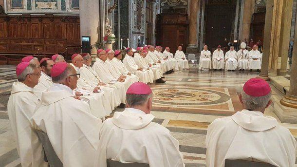39 obispos argentinos fueron al Vaticano para encontrarse con el Papa Francisco