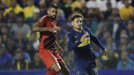Lucho González y Mauro Zárate en el último dueño entre Boca y Paranaense