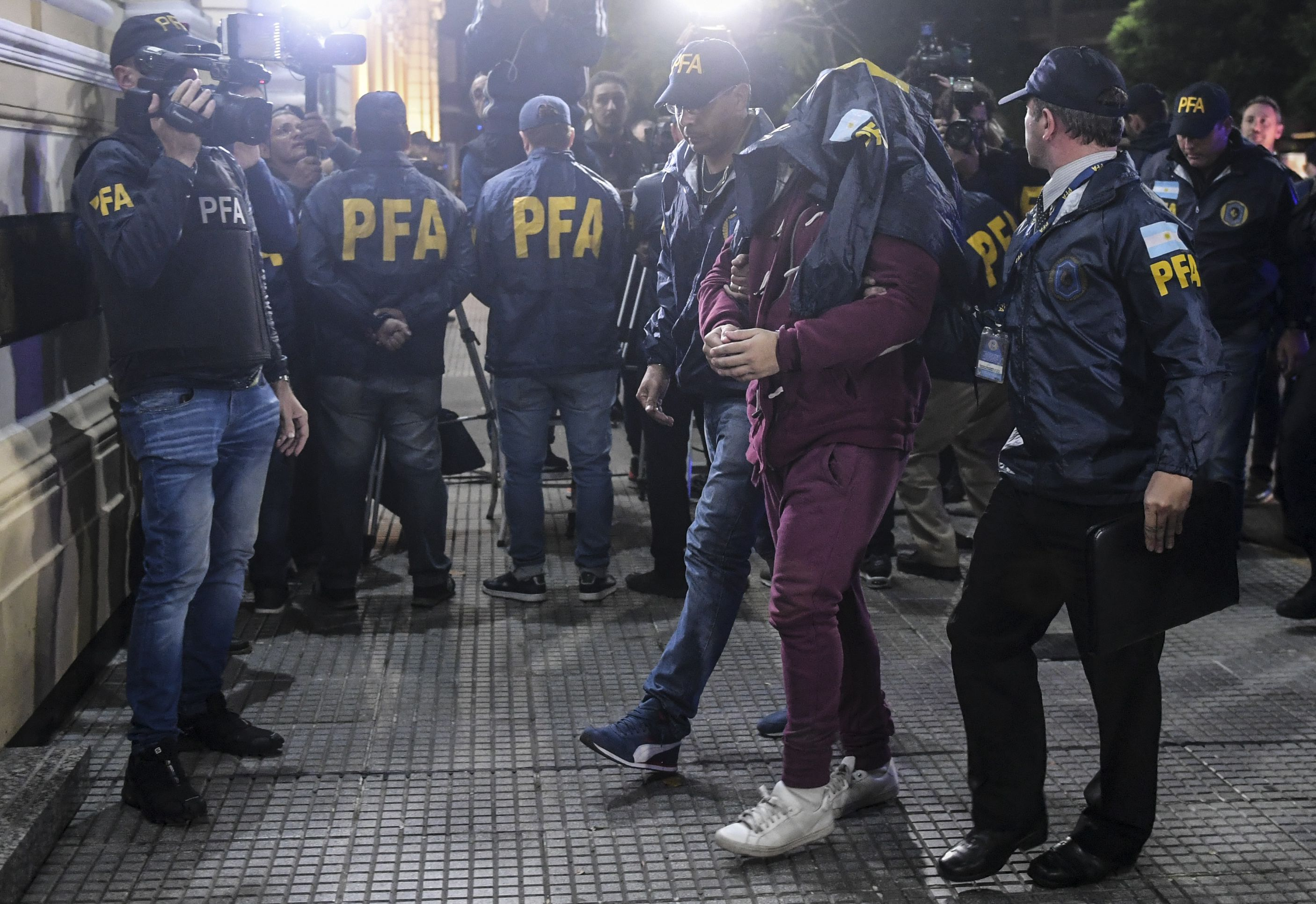 Juan José Navarro Cádiz fue custodiado por personal de la Policía Federal Argentina
