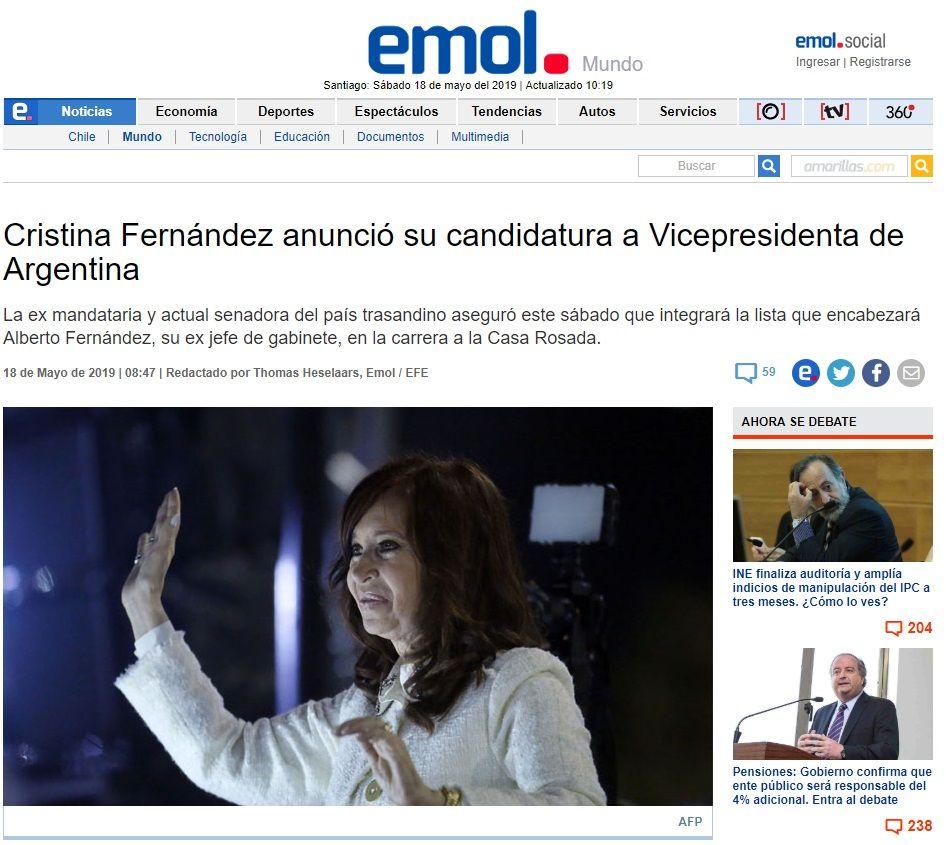 La fórmula Alberto Fernández - Cristina Kirchner es tapa de los principales medios del mundo
