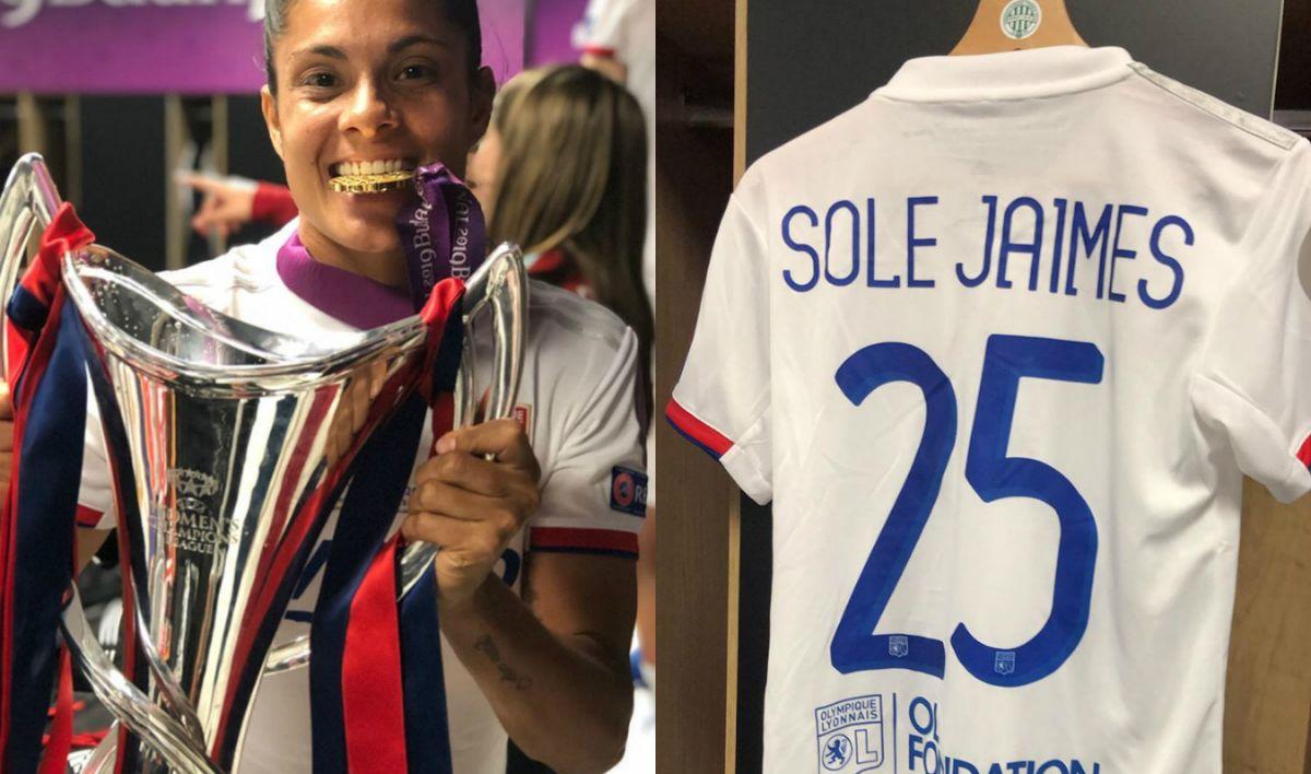 El alocado festejo de Sole Jaimes, la argentina campeona de la Champions League