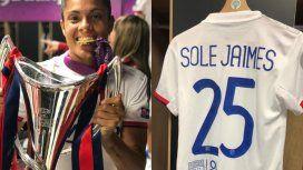 El alocado festejo de Sole Jaimes, la argentina campeona de la Champions