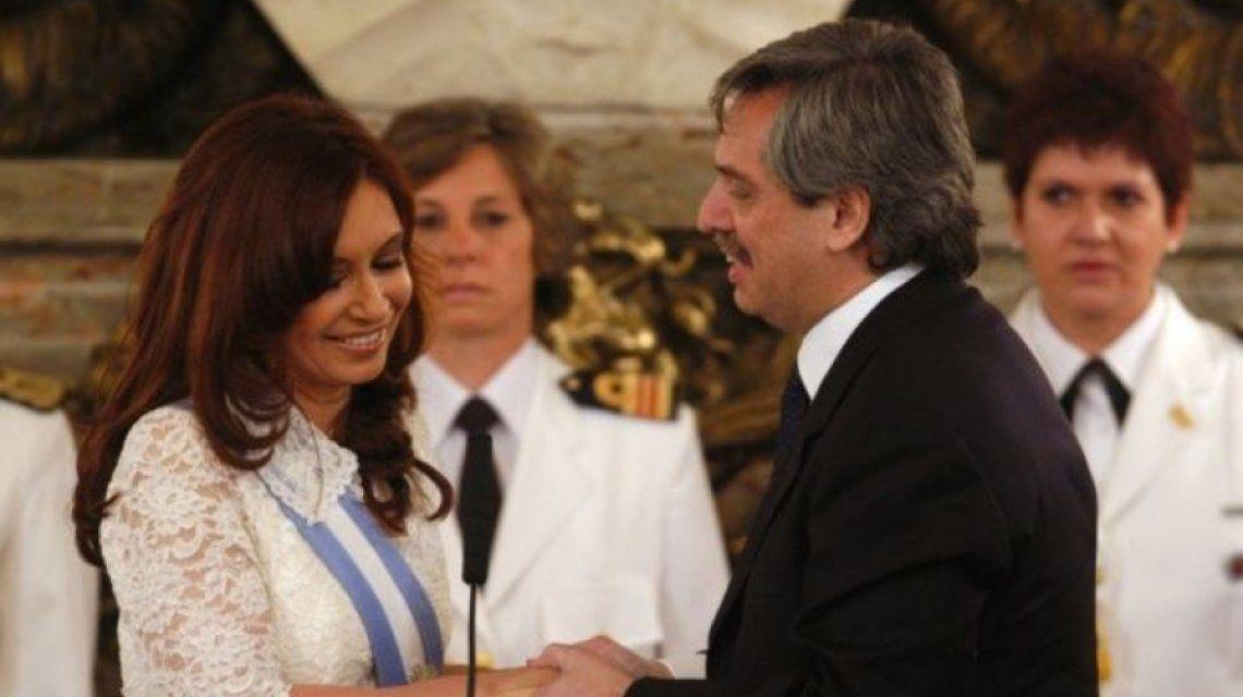 Cristina Kirchner y Alberto Fernández en 2007