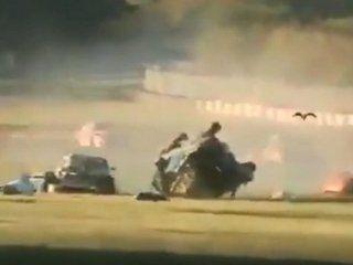 tragedia en el autodromo de buenos aires: murio un rescatista en un violento choque
