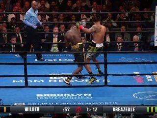 boxeo: deontay wilder le gano por ko a breazeale