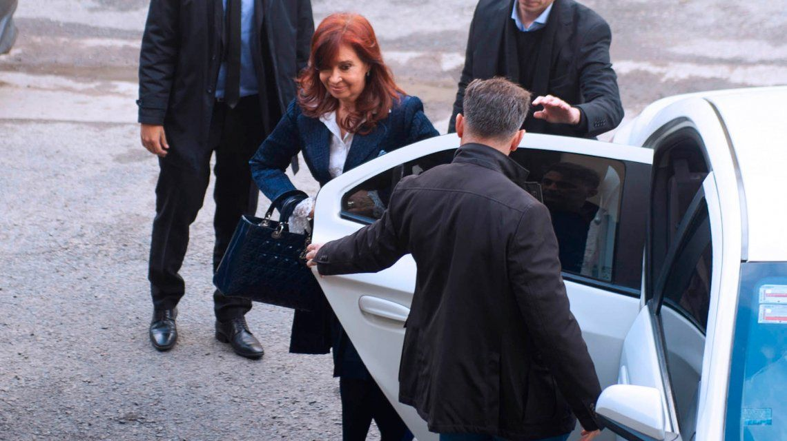 Asi llegó Cristina Kirchner a Comodoro Py