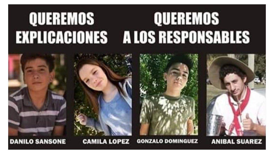 Conmoción por la muerte de cuatro jóvenes en un confuso episodio en San Miguel del Monte