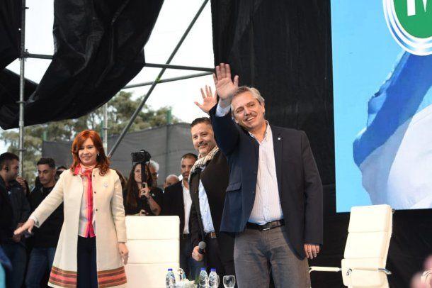 Cristina Kirchner, Gustavo Menéndez y Alberto Fernández