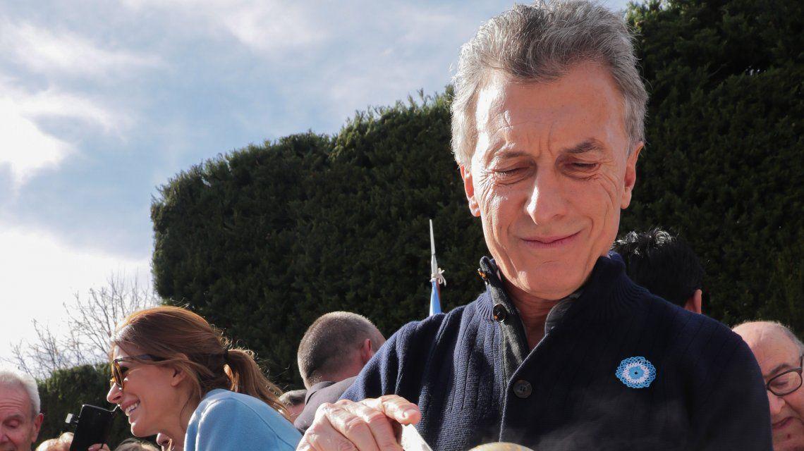 Mauricio Macri comió el tradicional locro
