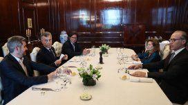 Macri en un almuerzo con miembros de la Corte