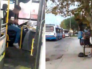 glew: un borracho se puso a manejar un colectivo y lo choco