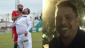 VIDEO: El mensaje de aliento de Ronaldo al Ogro Fabbiani por sus problemas de peso