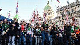 La marea verde volvió al Congreso para exigir la legalización del aborto