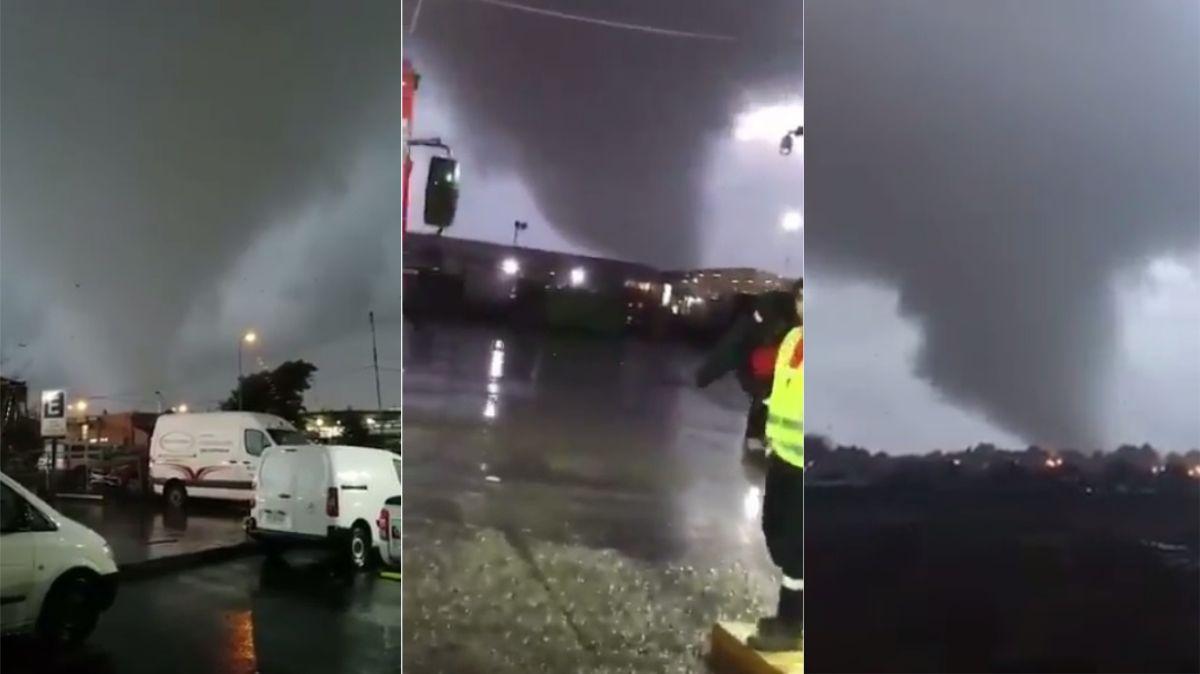 VIDEO: Un fuerte tornado azotó el sur de Chile