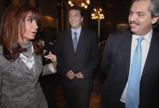 Cristina Kirchner, Sergio Massa y Alberto Fernández<br>