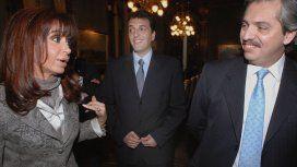 Cristina Kirchner, Sergio Massa y Alberto Fernández