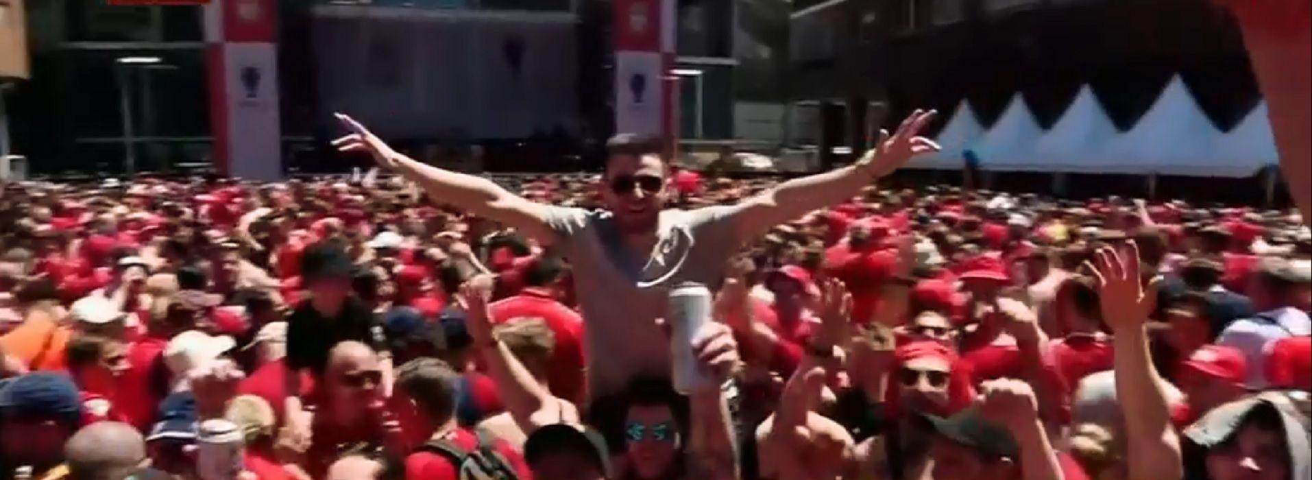 La final de la Champions: los hinchas de Liverpool alientan al ritmo de Dale alegría a mi corazón