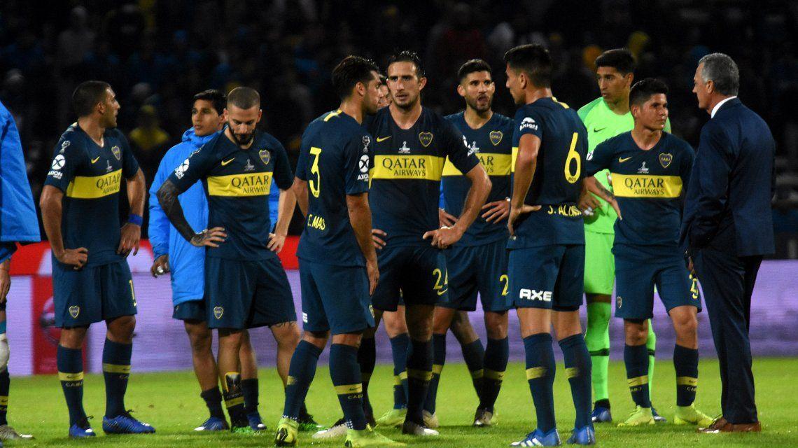 Los jugadores de Boca