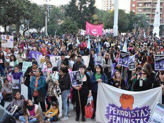 por quinto ano consecutivo, decenas de miles de mujeres gritaron ni una menos
