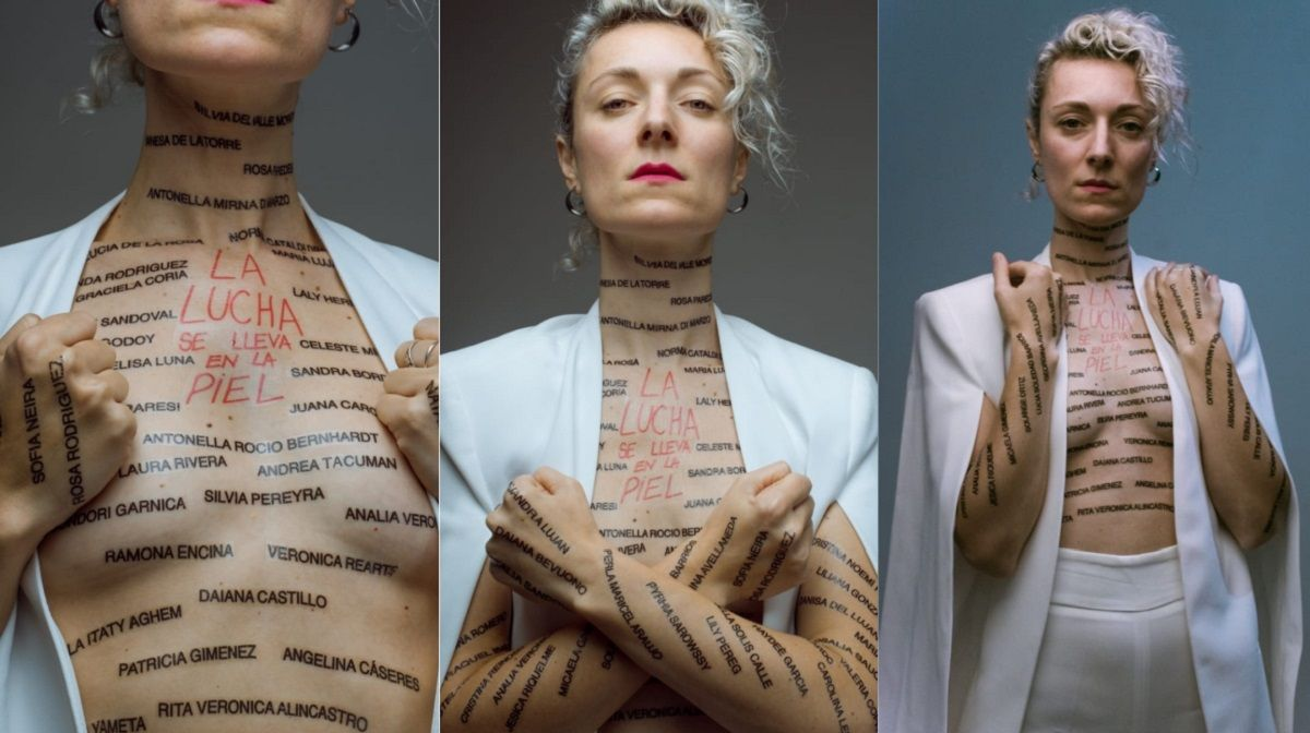 La lucha se lleva primero en la piel: la campaña de una artista plástica para el #Niunamenos