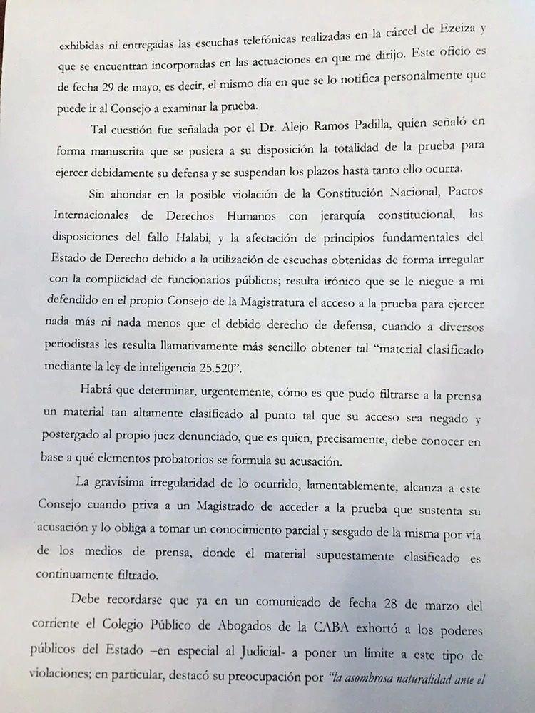 Revés para Bonadio: autorizan a Ramos Padilla a escuchar los audios de la causa en su contra