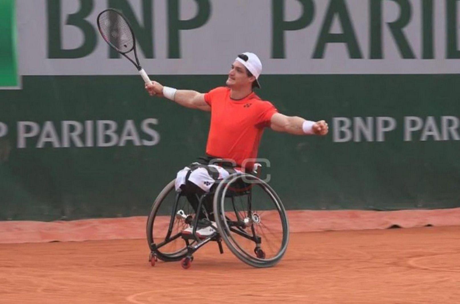 Gustavo Fernández, finalista de Roland Garros en tenis adaptado