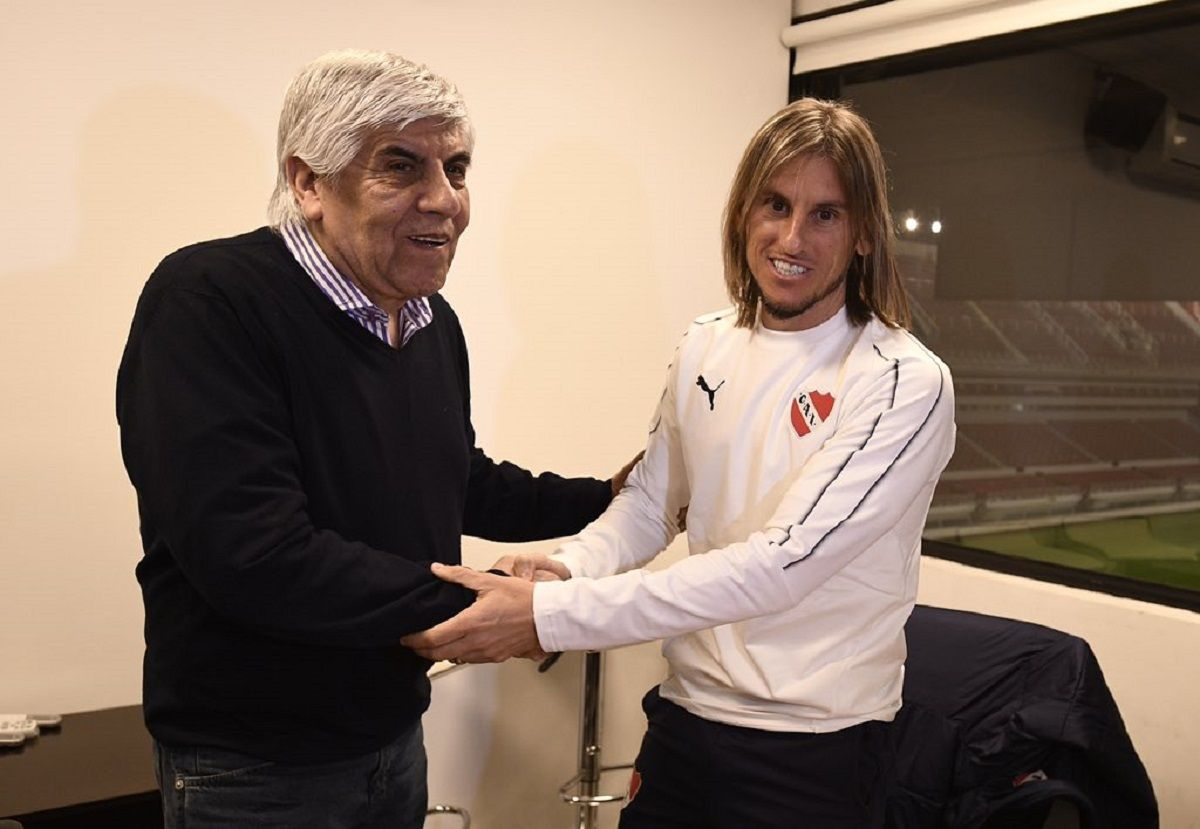 Hugo Moyano y Sebastián Beccacece