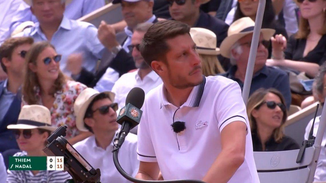 El llanto de un bebé interrumpió el saque de Nadal en la final de Roland Garros.