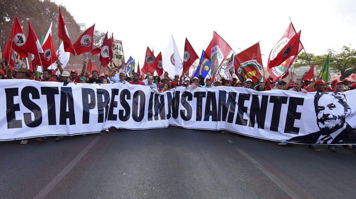 Una de las tantas marchas por Lula Da Silva