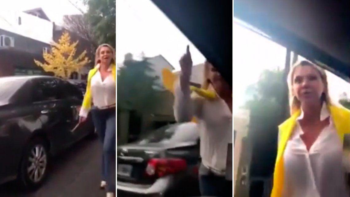 Una conductora atacó a martillazos un auto y amenazó al ocupante porque iba a 20
