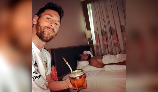 Lionel Messi y el Kun Agüero siempre concentran juntos en la Selección argentina.