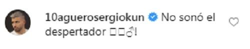 La respuesta del Kun Agüero a Messi luego del escrache en Instagram