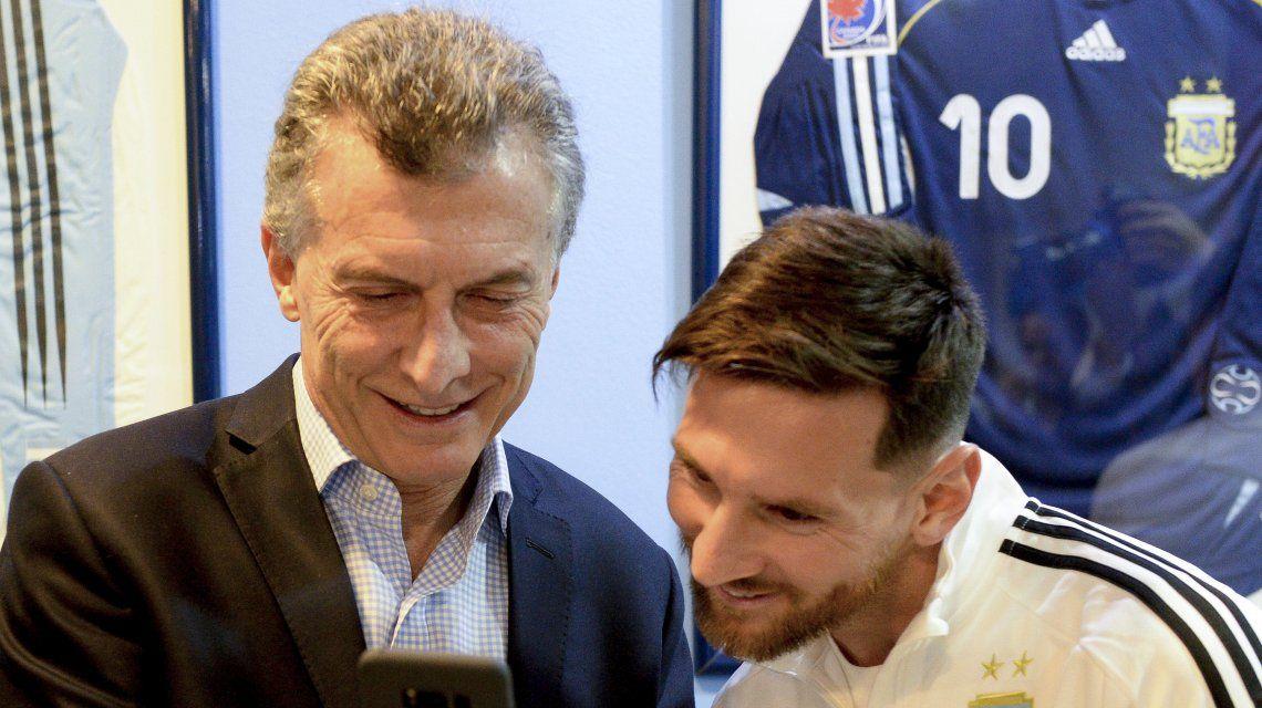 Mauricio Macri y Lionel Messi