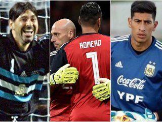 Pumpido, Roa, Romero y Andrada, cuatro de los que se quedaron afuera