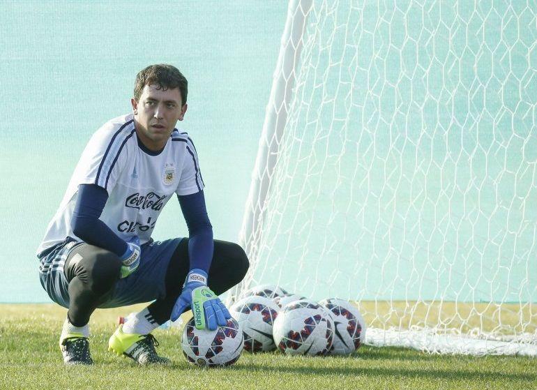 Agustín Marchesín estuvo en la lista preliminar de la Copa América 2016